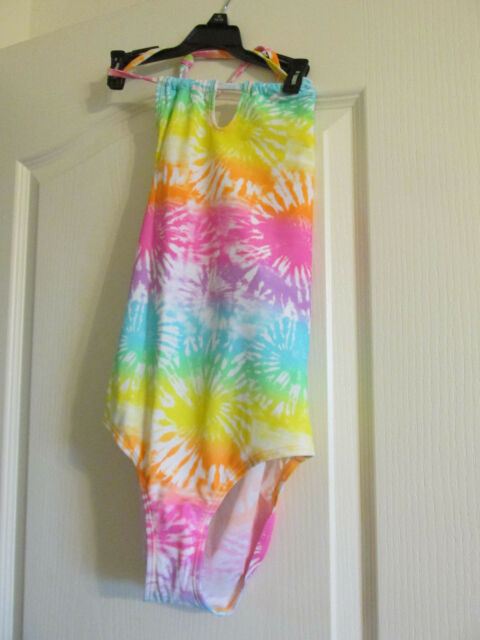 Girls  1pc Swim Bathing Suit Joe Boxer Size  10 tie dye pastels
