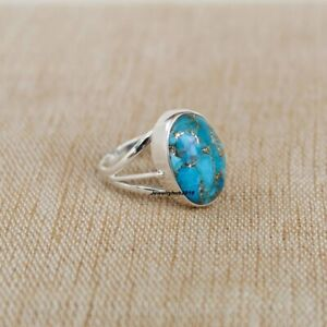 Turquoise Ring,Handmade Ring,925 Solid Sterling Silver Ring,Silver Turquoise Ring,Silver Ring,Rings For Women,Weeding Ring,Valentine Ring