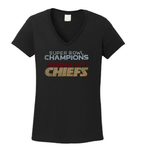 Women/'s Kansas City Chiefs  V-neck Super bowl  ladies championship  shirt Tshirt