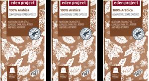 30 PLASTIC FREE Eden Project Home Compost 100% Arabica Nespresso Compatible Pods