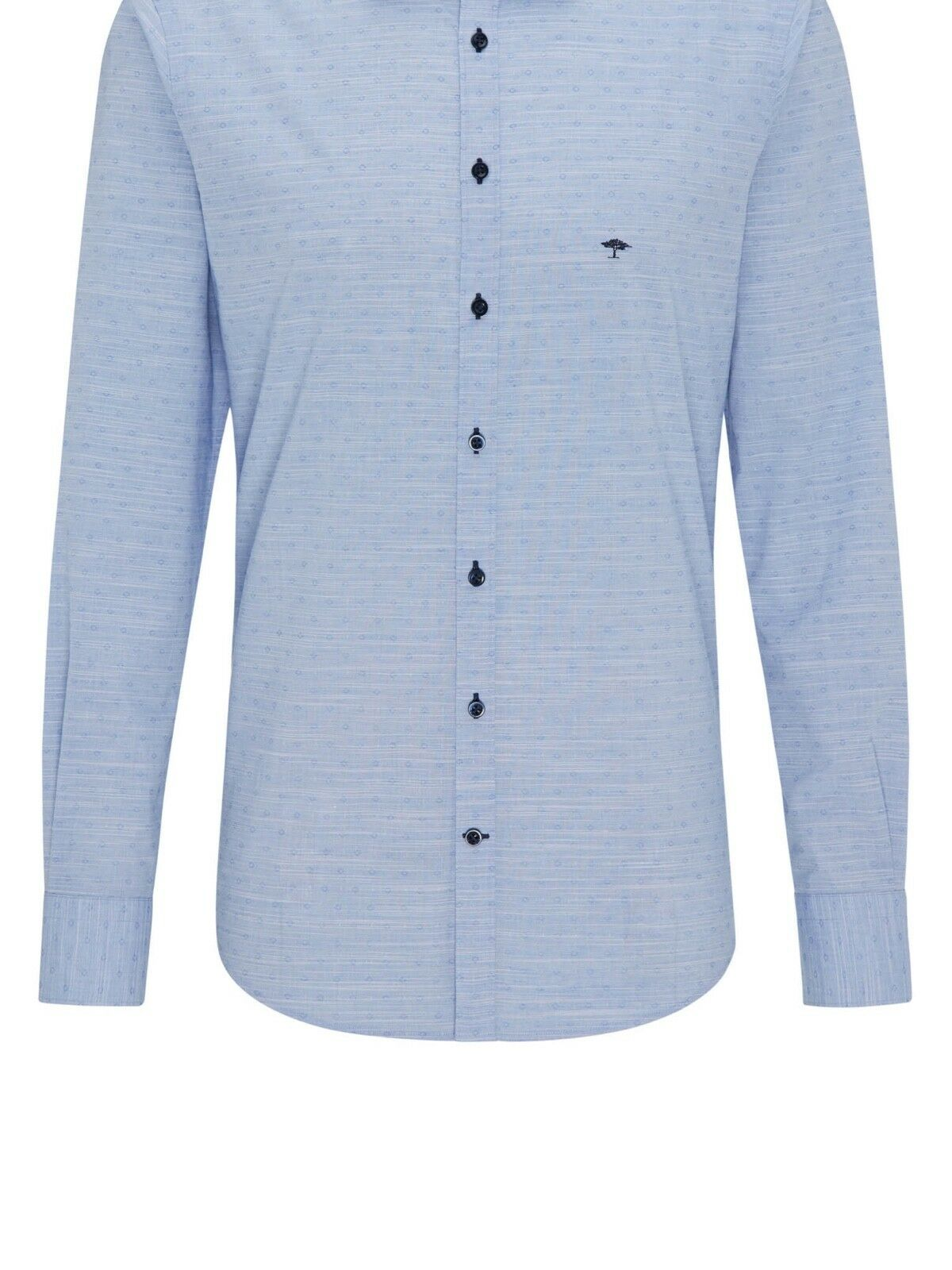 FYNCH HATTON® Premium Casual Jacquard Shirt bluee - 3XL New SS19