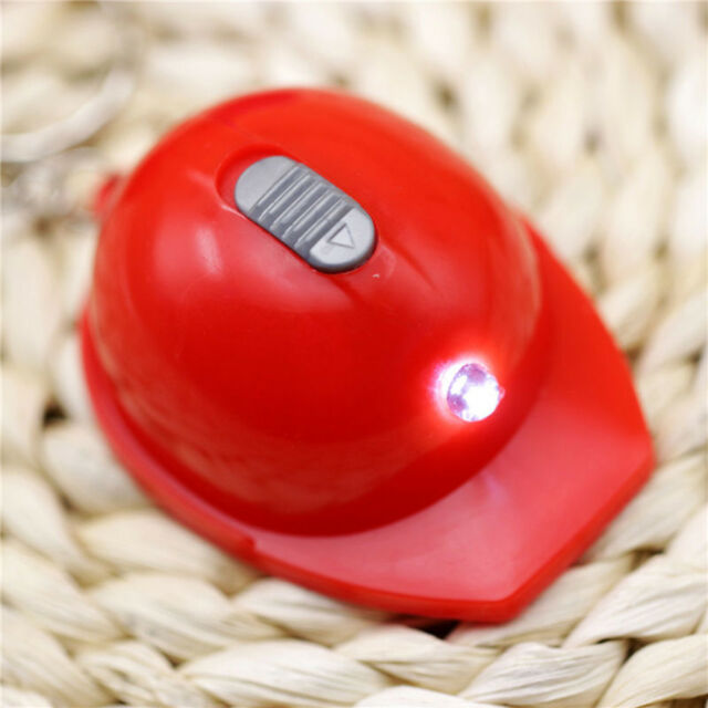 Interesting Mini LED Light Opener Helmet Keychain Metal Pendant Bottle l