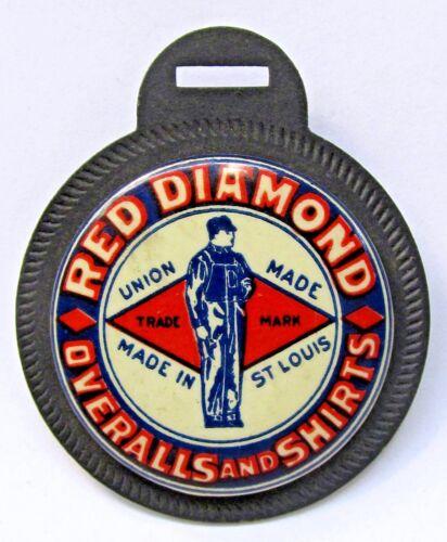 1920s vintage RED DIAMOND OVERALLS & SHIRTS facing