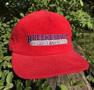 0645ca599f6 Image is loading VTG-BRECKENRIDGE-GENUINE-COLORADO-CORDUROY-HAT-CAP-SNAPBACK -