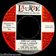THE DEL SATINS-Does My Love Stand A Chance-Soul-Teen-Doo Wop DJ 45-LAURIE #3149