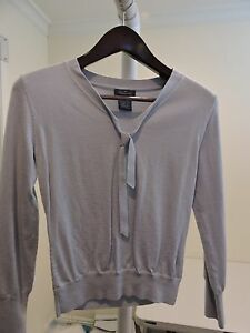 Faconnable-Wool-Blend-Blue-V-Neck-Thin-Sweater-Size-Extra-Small
