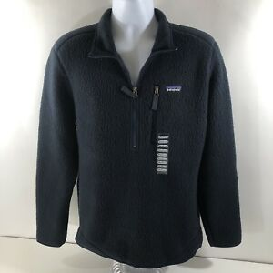 the sale of shoes the latest temperament shoes Patagonia Men's Retro Pile 1/2 Zip Pullover Jacket Navy Blue ...