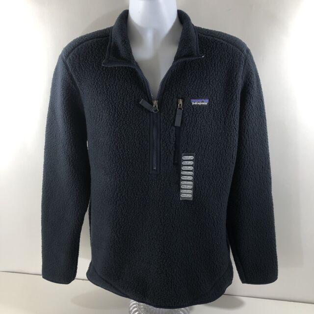 33995621 Patagonia Men's Retro Pile 1/2 Zip Pullover Jacket Navy Blue Fleece MEDIUM  NEW