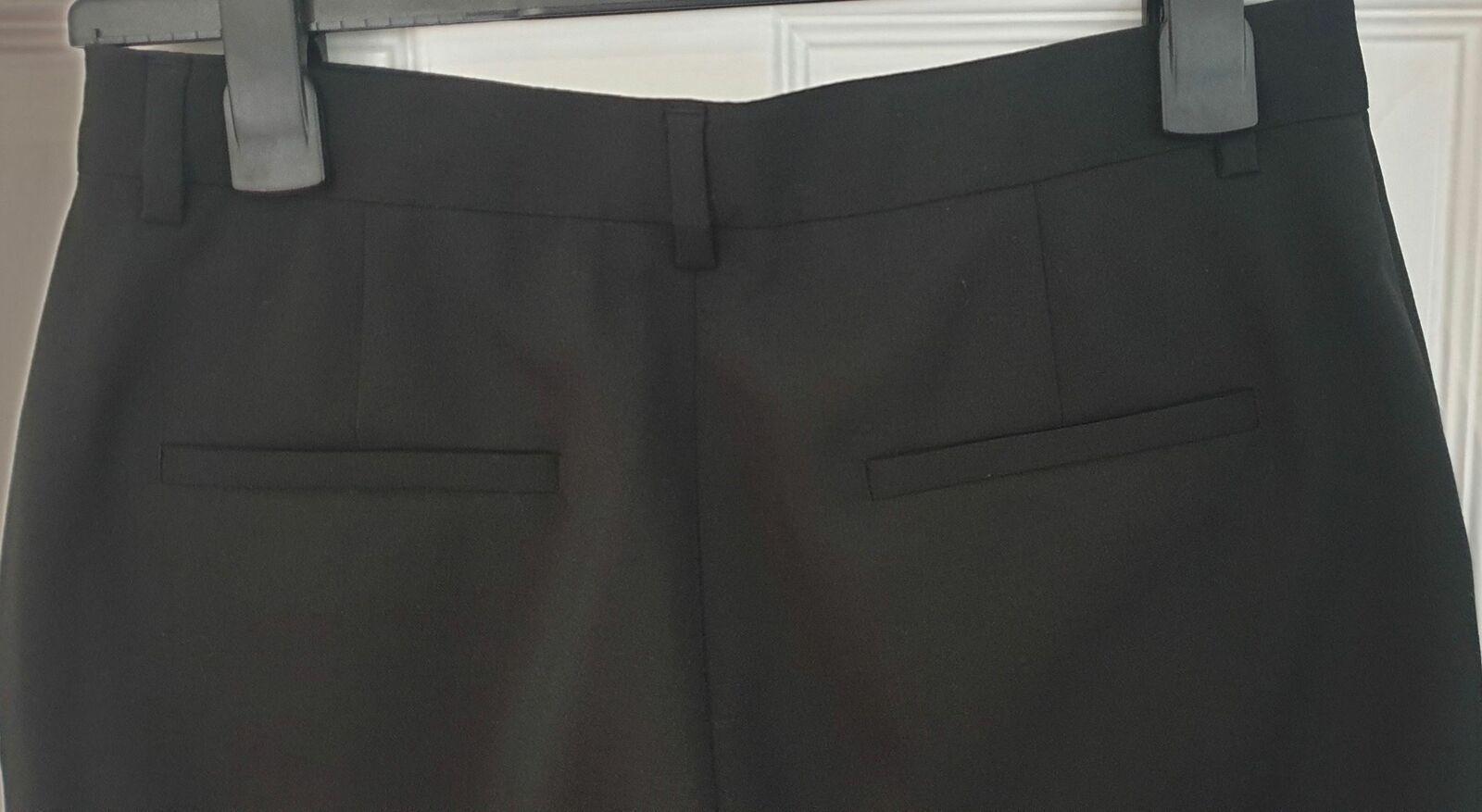 VIKTOR ROLF Femminile & Nero 100% MOHAIR Pantaloncini di lunghezza lunghezza lunghezza lungo formale FR38 UK10 8820cd