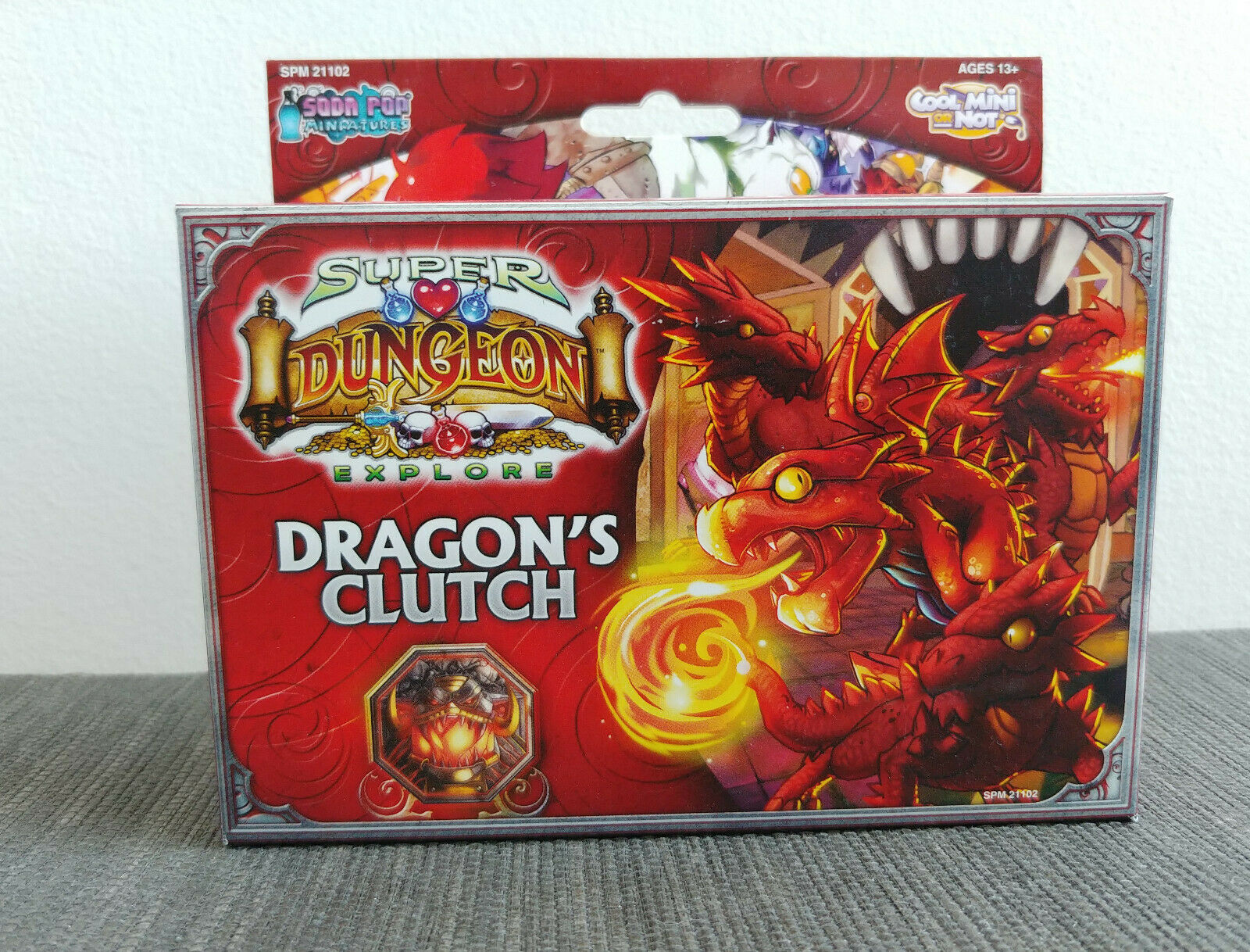 Super Dungeon Explore drake's Clutch Expansion - CMON Board spel Soda Pop - New