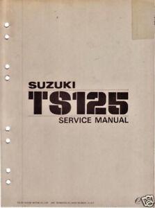 suzuki factory service manual ts125 ts 125 ts125 n t ebay rh ebay com suzuki samurai factory service manual suzuki factory service manual pdf