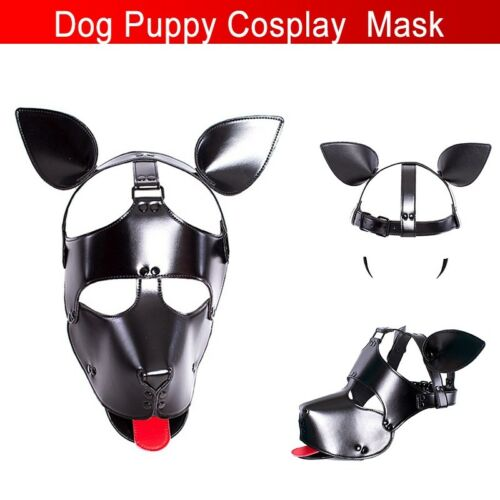 Cosplay Role Puppy Dog Mask Play Women Men Matching Roleplay Head Hood Props