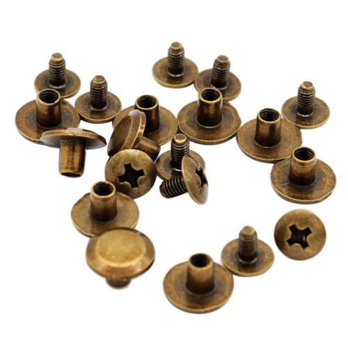20 Schrauben Nieten Gürtelschrauben Buchschrauben 10x5 mm für