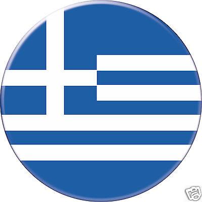 Badge 56mm Button Pin Drapeau 1 Grèce