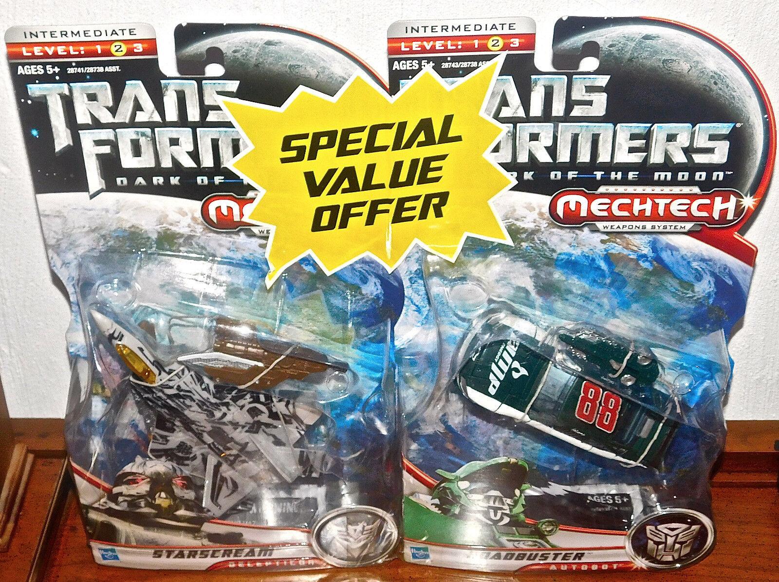 Transformers Dark of the Moon STARSCREAM & ROADBUSTER LOT NEW Deluxe Figures