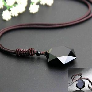 segen-schwarz-glueck-maenner-hexagramm-form-halskette-obsidian-anhaenger-amulet