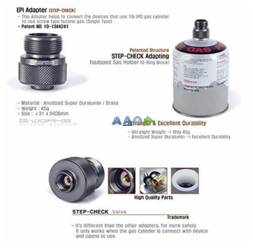G Works EPI Gas Adapter 1ea Duralumin Ultralight 45g LPG Device to Use Butane