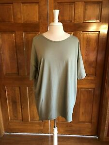 LuLaroe-Sage-Green-Short-Sleeve-Tunic-Top-Med