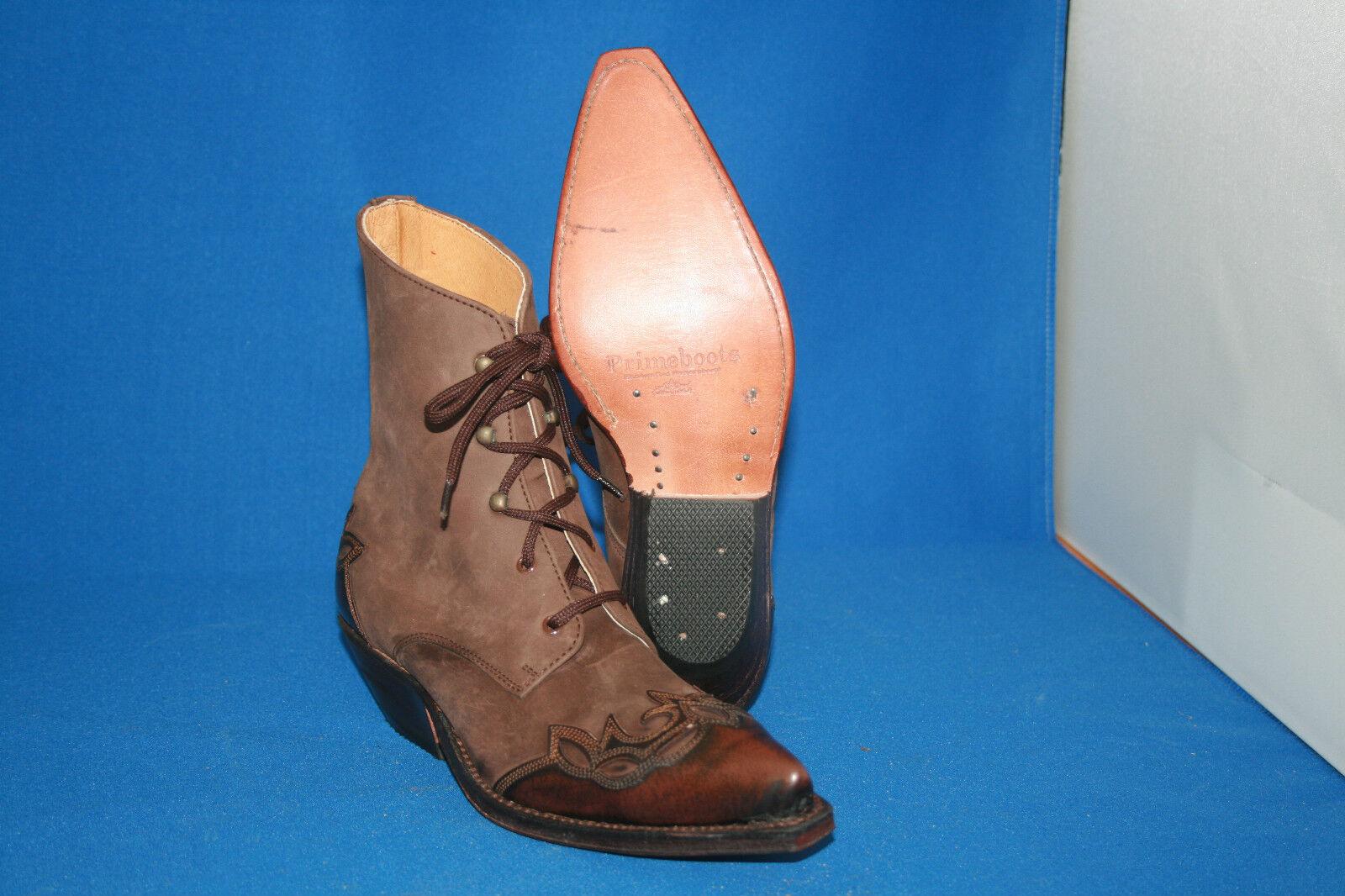Prime Stiefelette 37 westernstiefel Boots cowboyboots gr. 37 Stiefelette  neu  braun leder 3b36c7