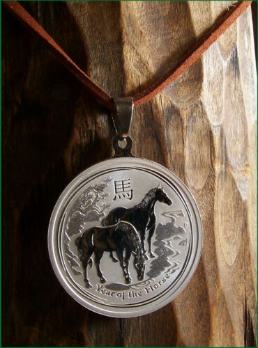 Anhänger 999,9 Silber. Jahr des Pferdes 2014 Chinesisches Horoskop Pferd
