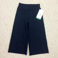 Motionwear Black Flat Waistband Clam Pants, Child Size Small (4-6) With Tags