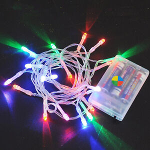 Battery Operated String Lights For Patio : MULTI-COLOR 10-80 LED AA BATTERY OPERATED FAIRY STRING LIGHTS PARTY XMAS PATIO eBay