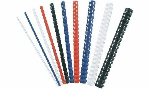 50xFellowes Plastikbinderücken Spiralbindung Binding-Combs DIN A4 22mm schwarz