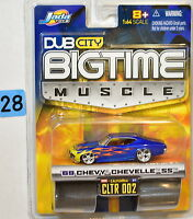 2004 JADA TOYS DUB CITY BIGTIME MUSCLE '69 CHEVY CHEVELLE SS W REAL RUBBER TIRES Toys