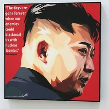 Kim Jong-un Canvas Quotes wall decals photo painting Framed POP ART poster