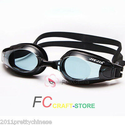 New Adult Optical Swimming Goggles Eyewear Glasses Myopia Anti-fog UV Protector