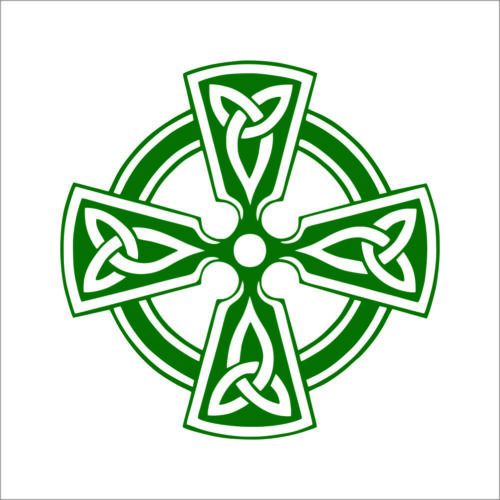 Sticker 2 Celtic Cross Vinyl Decal TWO Pack