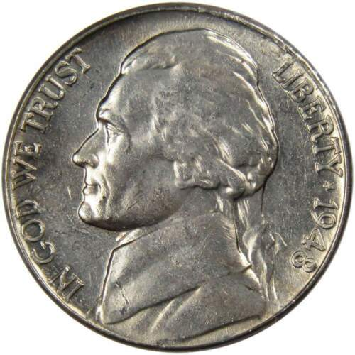 1948 5c Jefferson Nickel US Coin BU Uncirculated Mint State