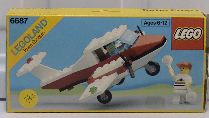 NEW Lego Classic Town 6687 Turbo Prop l LEGOLAND Sealed Sealed Sealed Airport 1987' 40bded