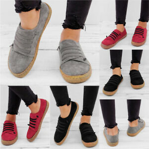 New-Women-Sneakers-Shoes-Fashion-Casual-Flats-Slip-On-Loafers-Espadrille-Shoes