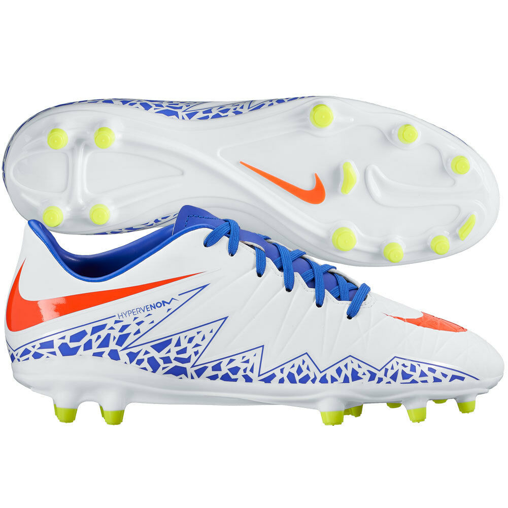 Nike Womens HyperVenom FG II Phelon 2016 Rio Soccer Shoes White - Blue - Orange