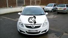 Betty Boop vauxhall bonnet side door girls vinyl graphics decal car sticker fun