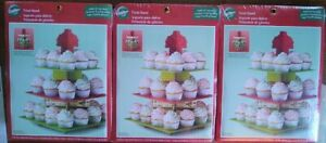 BOX-OF-3-Wilton-3-Tier-CUPCAKE-Holiday-TREAT-STAND-Holds-24-Cupcakes-1512-0882