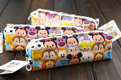 tsum tsum mickey minnie pencil box case storage bags school supplies Kids gift