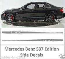 Grey AMG Edition 507 Side Stripe Decals Stickers Mercedes Benz C Class W204 W205