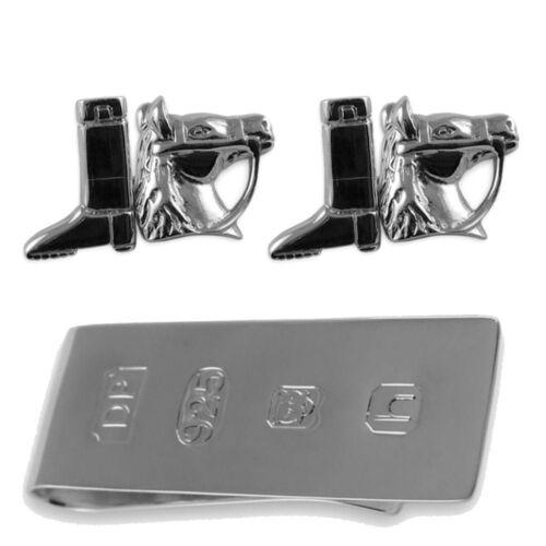 Bond equitazione per in da fermasoldi Gemelli di stivali per James Set sterling argento soldi wtqWTOA