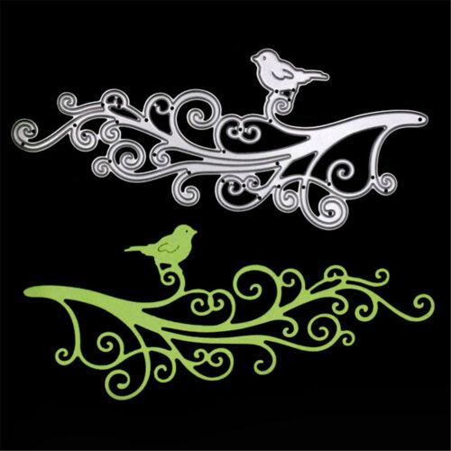 Vivid Fiore RATTAN rami taglio Birds DIE Stencil ALBUM CARD Craft CARTELLA Suit
