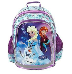 48fa2f0d62027 Das Bild wird geladen Schulrucksack-Schulranzen-Schultasche-Disney-Frozen- Eiskoenigin-Elsa-39cm-