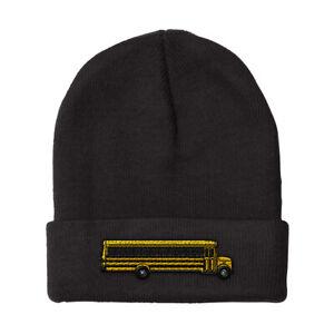 Beanies for Men School Bus B Embroidery Winter Hats Women Acrylic Skull Cap