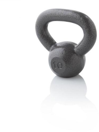 environ 4.54 kg Durable Hammertone finition fonte Extra Large Grip Kettlebell 10 lb