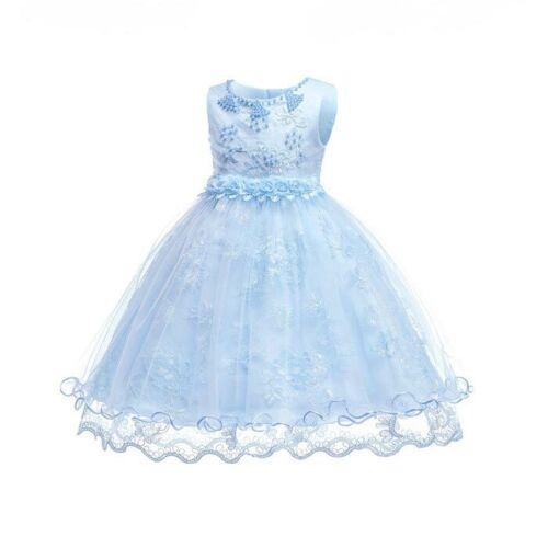 0-10 Wedding party flower formal dresses girl dress princess kid bridesmaid baby