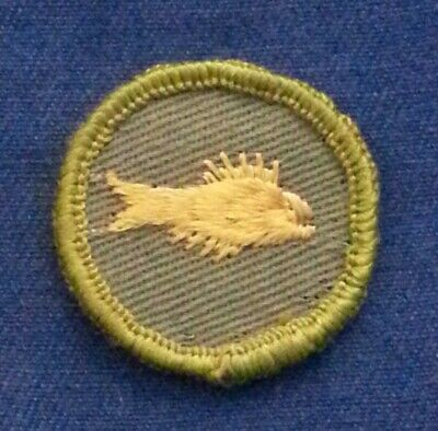 1961-68 Boy Scout ART Merit Badge Type F Khaki Rolled Edge