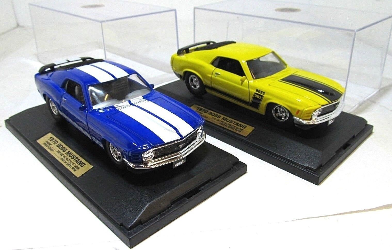 2 Tootsie Hard Body 1970 Boss Mustangs 1 10,000 10,000 10,000 in Display Cases 8e135c