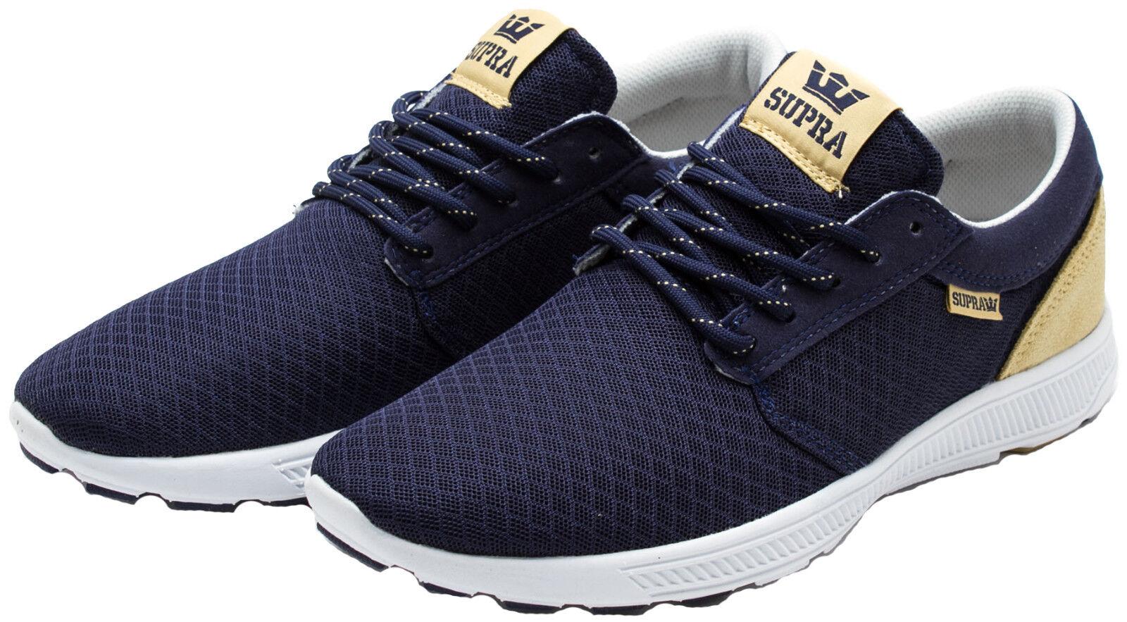 SUPRA Men's Hammer Run shoes Navy Tan S55055 Sz 8 8.5