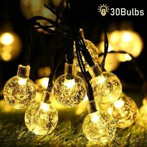 30-50-LED-Solar-Power-String-Light-Ball-Lamp-Garden-Path-Yard-Xmas-Wedding-Decor