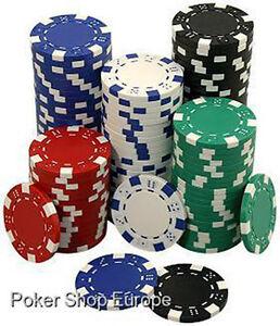 1000-Dice-Style-Poker-Chips-11-5g-39mm-Casino-Job-Lot-Red-White-Black-Blue-Green